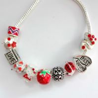 Assorted Enamel beads fit Pandora Bracelet PK 20